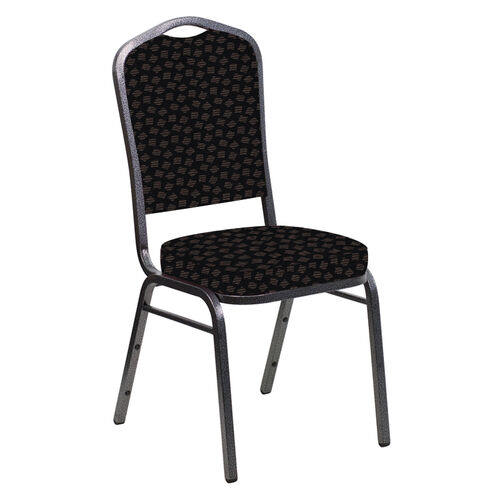 Our Crown Back Banquet Chair in Scatter Ferrer Fabric - Silver Vein Frame is on sale now.