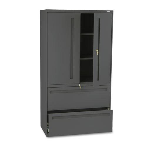 Our HON® 700 Series Lateral File w/Storage Cabinet - 36w x 19-1/4d - Charcoal is on sale now.