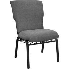 Advantage Black Marble Discount Church Chair - 21 in. Wide