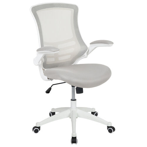 Our Mid-Back Light Gray Mesh Swivel Ergonomic Task Office Chair with White Frame and Flip-Up Arms is on sale now.