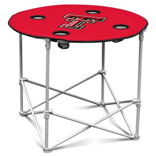 Texas Tech University Team Logo Round Folding Table