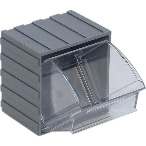 Ordinaire 3.75u0027u0027W Mini Individual Clear Tip Out Bin   Gray