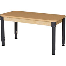 Rectangular High Pressure Laminate Table with Adjustable Steel Legs - 48