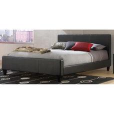 Euro Sleek Modern Platform Bed with Frame - Full - Black