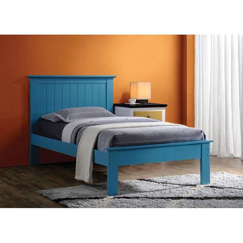 Prentiss Wooden Bed with Panel Headboard - Queen - Blue