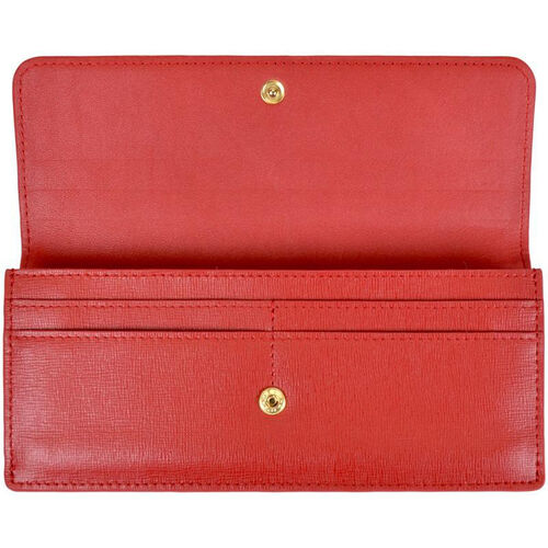 Our RFID Blocking Clutch - Saffiano Genuine Leather - Red is on sale now.