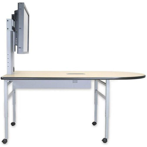 Our Adjustable Height Collaboration Table with High-Pressure Laminate Work Surface - 72