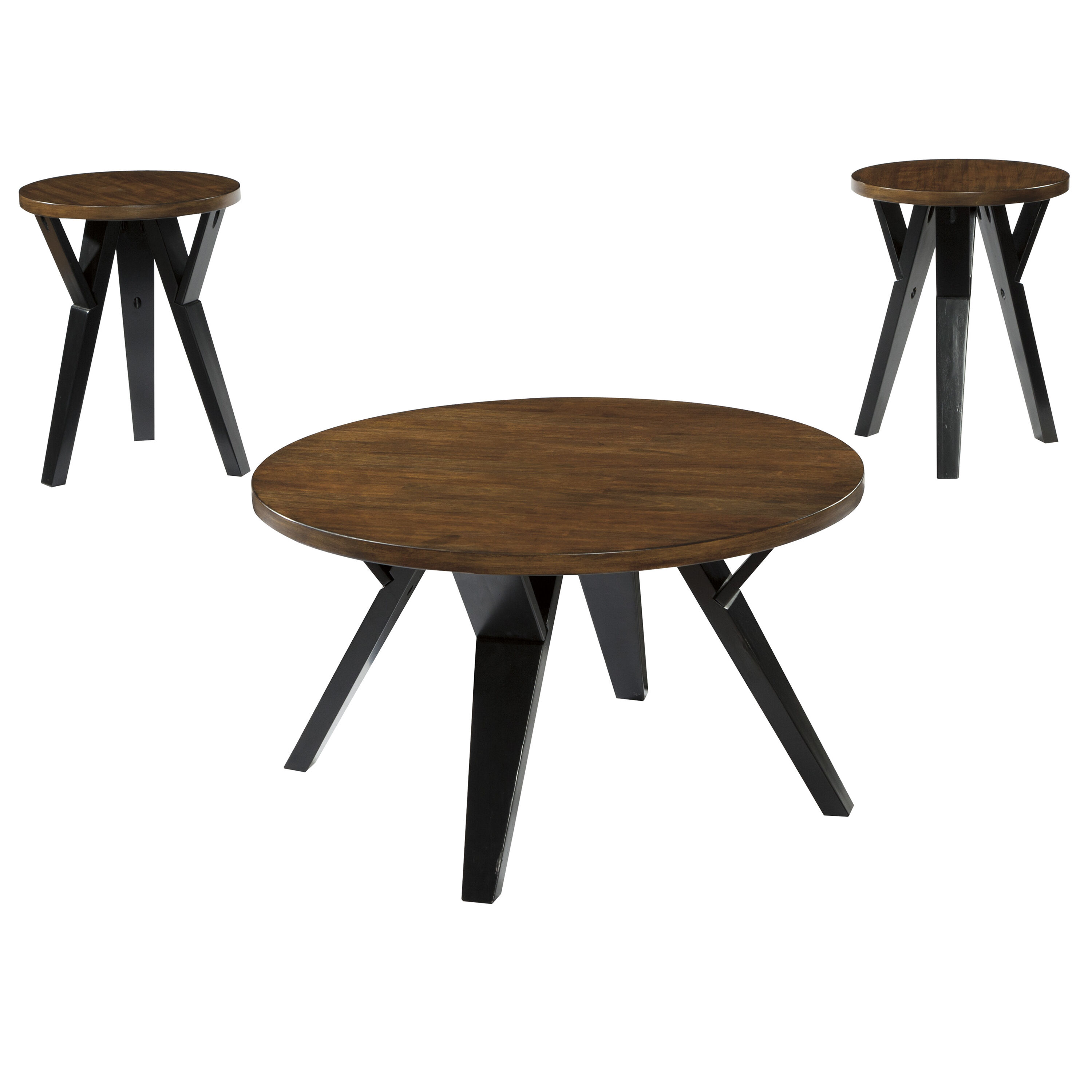 ... Our Signature Design By Ashley Ingel 3 Piece Occasional Table Set Is On  Sale Now.