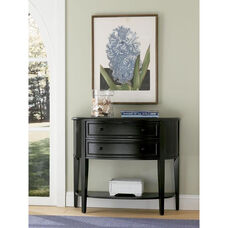 Demilune Console Table - Antique Black