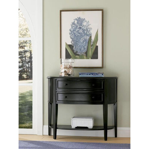 Our Demilune Console Table - Antique Black is on sale now.