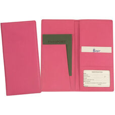 Passport Travel Document Wallet - Top Grain Nappa Leather - Wildberry