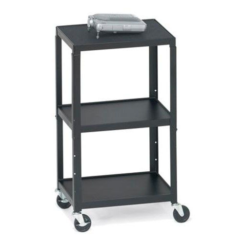 Our Three-Shelf Adjustable AV Notebook Cart with 6 Electrical Outlets - 24