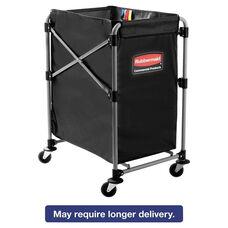 Rubbermaid® Commercial Collapsible X-Cart - Steel - Four Bushel Cart - 20 1/3w x 24 1/10d - Black/Silver