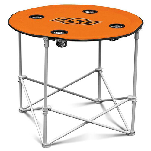 Our Oklahoma State University Team Logo Round Folding Table is on sale now.