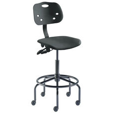 Quick Ship ArmorSeat Series Chair with UV Inhibitor and Tubular Steel Base - High Seat Height