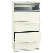 HON® 500 Series Five-Drawer Lateral File - 36w x 19-1/4d x 67h - Putty