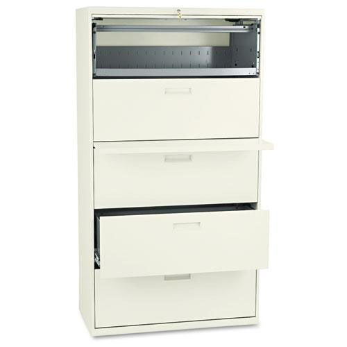 Our HON® 500 Series Five-Drawer Lateral File - 36w x 19-1/4d x 67h - Putty is on sale now.