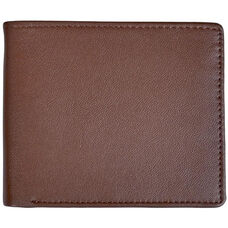 RFID Blocking Euro Commuter Wallet - Top Grain Nappa Leather - Coco