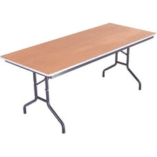 Sealed and Stained Plywood Top Table with Aluminum T - Molding Edge - 30