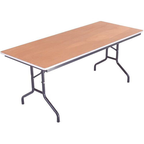 Our Sealed and Stained Plywood Top Table with Aluminum T - Molding Edge - 30