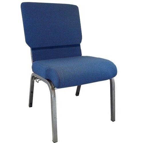 Advantage Navy Church Chair 20.5 in. Wide