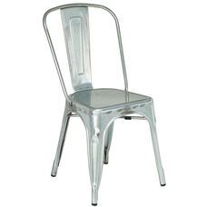 Armless Industrial Indoor Side Chair - Clear Coat