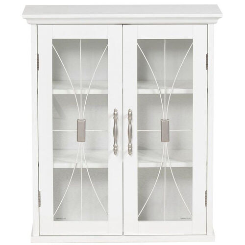 Delaney Wall Cabinet with Two Doors - White