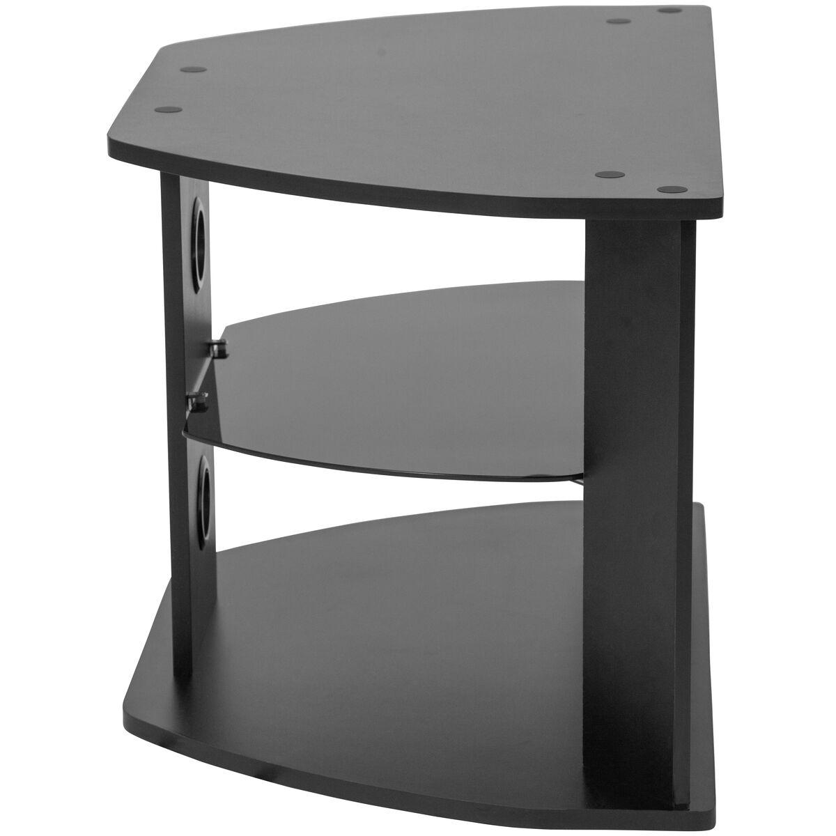Black Tv Stand With Shelves Nan Rydal Gg Bizchair Com
