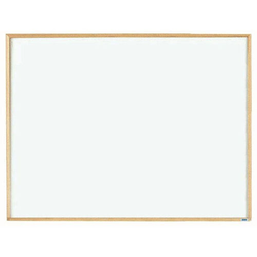 Economy Series White Melamine Marker Board with Wood Frame - 36