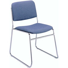 300 Series Stacking Steel Frame Armless Guest Chair with Sled Base and 1.5'' Upholstered Seat
