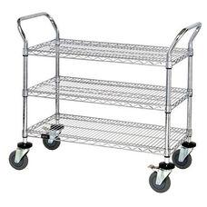 37.5''H x 24''W x 42''D 3 Shelf Wire Utility Cart