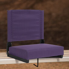 Grandstand Comfort Seats by Flash - 500 lb. Rated Lightweight Stadium Chair with Handle & Ultra-Padded Seat, Dark Purple