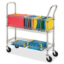 Lorell Wire Mail Cart - Letter/Legal - 34 -1/4