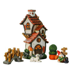 Cottage 5 Piece Miniature Fairy Garden Set