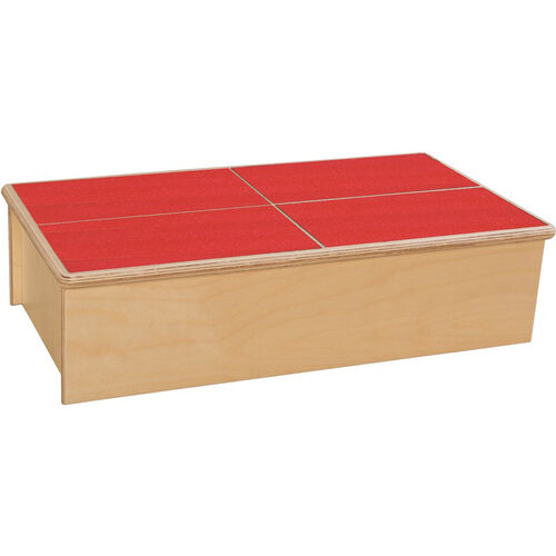 Our Wooden Childs Step Stool with Red No-Slip Tread - 23