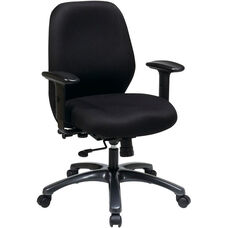 Pro-Line II 24/7 High Intensity Use Ergonomic Office Chair with 2-to-1 Control - Black