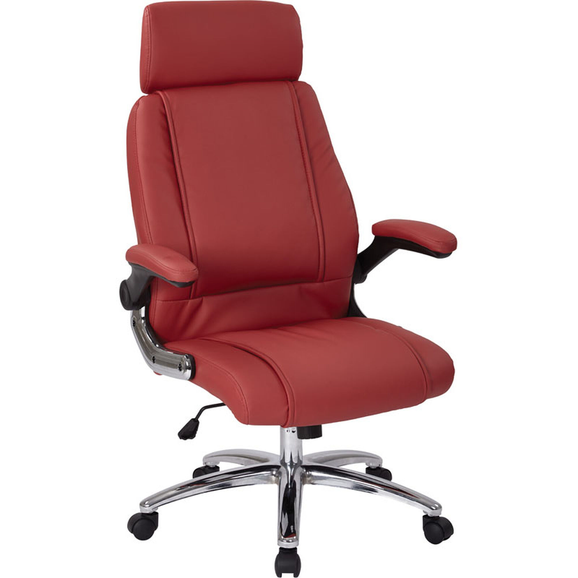 Images Our Inspired By Bett Sinclair Executive Faux Leather Office Chair Red