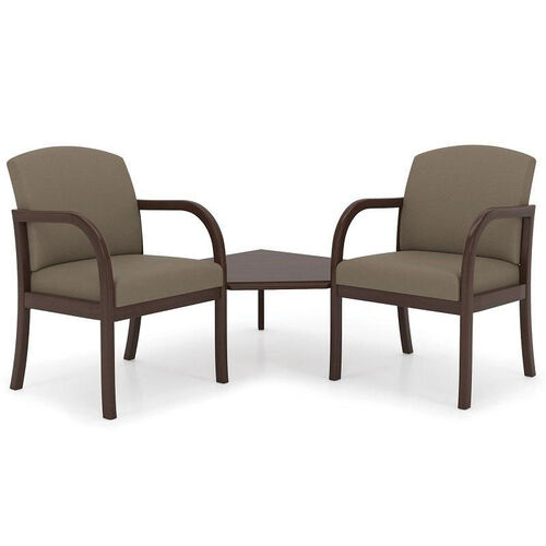 Weston Series Guest Chairs with Connecting Corner Table