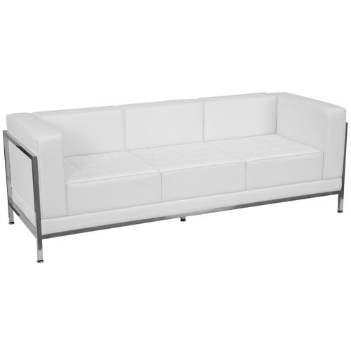 Our HERCULES Imagination Series Contemporary Melrose White LeatherSoft Sofa with Encasing Frame is on sale now.