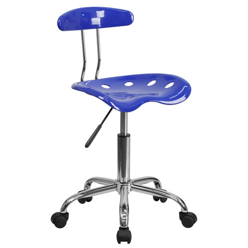 Our Vibrant Nautical Blue and Chrome Swivel Task Office Chair with Tractor Seat is on sale now.