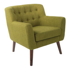 Ave Six Mill Lane Chair in Green Fabric with Coffee Legs