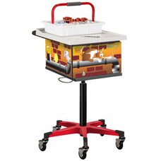 Pediatric Phlebotomy Cart with Two Removable Storage Bins - Alley Cats and Dogs