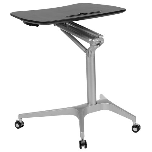 "Our Mobile Sit-Down, Stand-Up Black Computer Ergonomic Desk with 28.25""W Top (Adjustable Range 29"" - 41"") is on sale now."