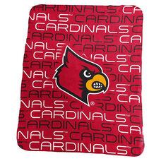 University of Louisville Team Logo Classic Fleece Throw
