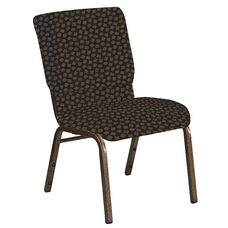 Embroidered 18.5''W Church Chair in Scatter Timber Fabric - Gold Vein Frame