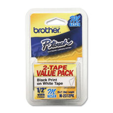 Brother P-Touch Nonlaminated M Tape Value Pack - Pack Of 2