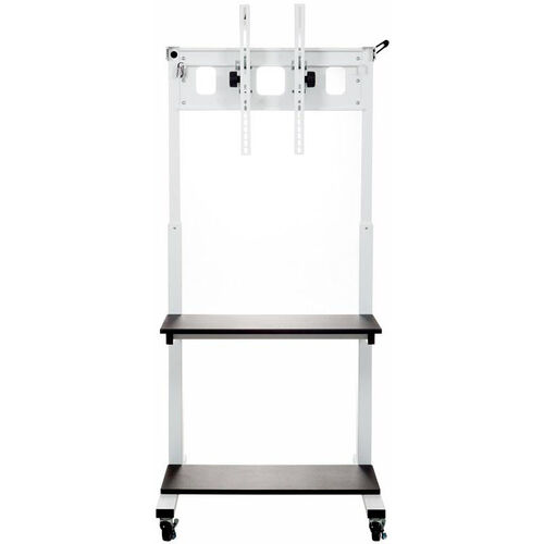 Our Crank Adjustable Height Steel Frame Flat Panel TV Cart with Melamine Top Shelves - 30
