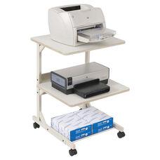 BALT® Dual Laser Printer Stand - Three-Shelf - 24w x 24d x 33h - Gray