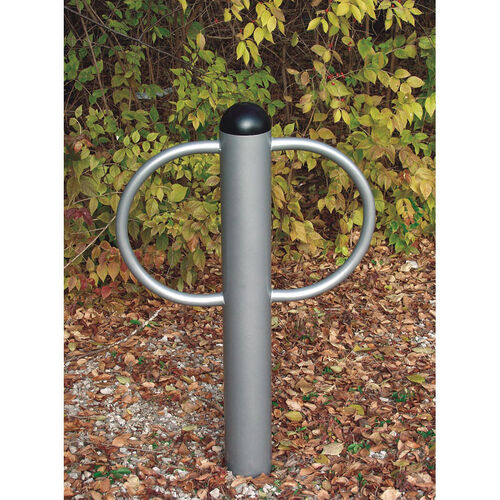 Our Chrome Finished Galvanized Steel Pipe Constructed Circular Loop Double Bike Rack - 30