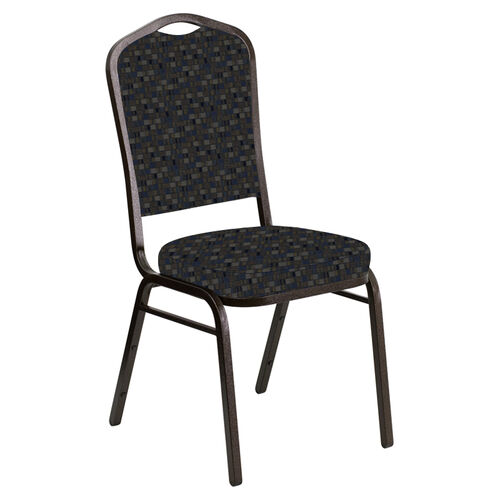 Our Crown Back Banquet Chair in Empire Tartan Sky Fabric - Gold Vein Frame is on sale now.